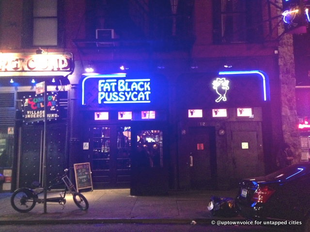 The Fat Black Pussycat in Greenwich Village