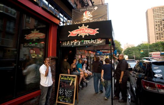 Wicked Willy's Bar in Greenwich Village